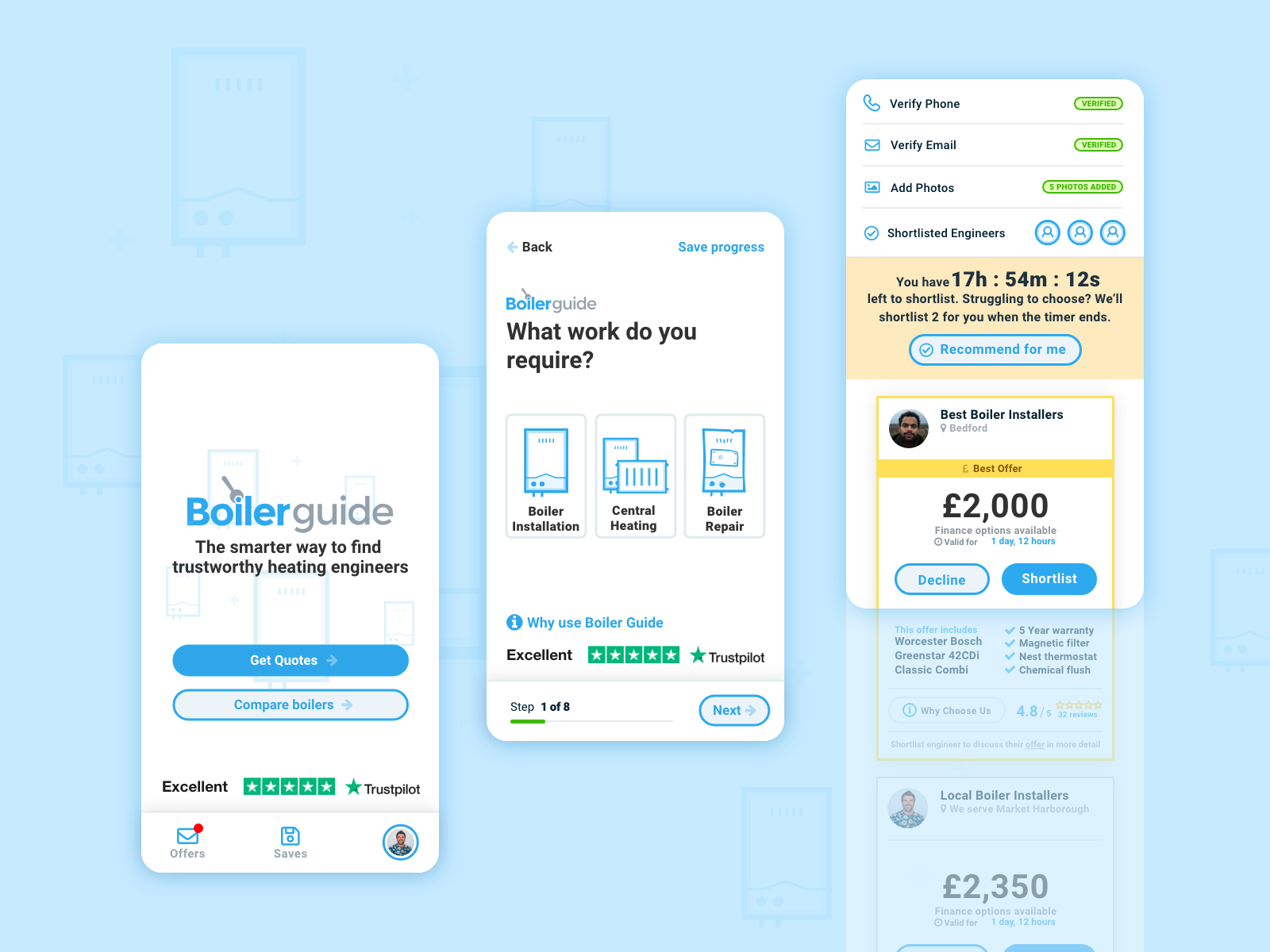 The relaunched Boiler Guide website